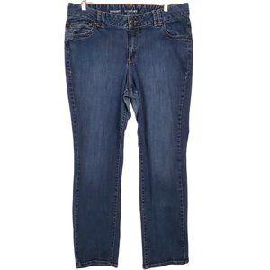 Lane Bryant Womens Straight Leg Med Wash Jeans 18